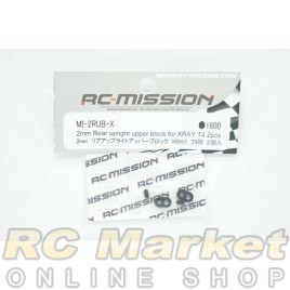 RC MISSION 2mm Rear Uplight Upper Block for Xray T4 2pcs
