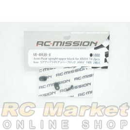 RC MISSION 4mm Rear Uplight Upper Block for Xray T4 2pcs