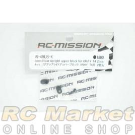 RC MISSION MI-4RUB-X 4mm Rear Uplight Upper Block for Xray T4 2pcs
