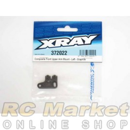 XRAY 372022 X12 Composite Front Upper Arm Mount - Left - Graphite