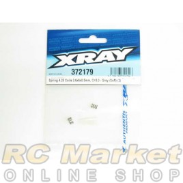 XRAY 372179 X12 Spring 4.25 Coils 3.6x6x0.5mm, C=3.0 - Grey (Soft) (2)