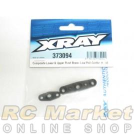 XRAY 373094 Composite Lower & Upper Pivot Brace -Low Roll-Center-H-V3