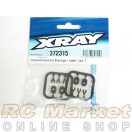 XRAY 372315 Composite Eccentric Bushings + Caster Clips (2)