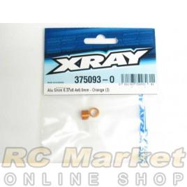 XRAY 375093-O Alu Shim 6.37x8.4x6.0mm - Orange (2)