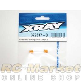 XRAY 372317-O X12 Alu Eccentric Bushing 0.5mm - Orange (2)