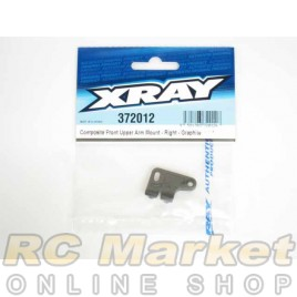 XRAY 372012 Composite Front Upper Arm Mount - Right - Graphite