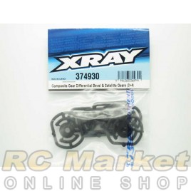 XRAY 374930 Composite Gear Differential Bevel & Satellite Gears (2+4)