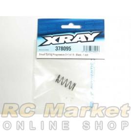 XRAY 378095 Shock Spring Progressive C=1.4-1.9 - Black – 1 dot