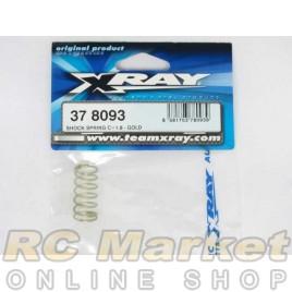 XRAY 378093 Shock Spring C=1.8 - Gold