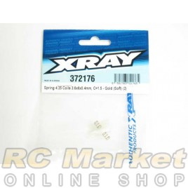 XRAY 372176 Spring 4.25 Coils 3.6x6x0.4mm, C=1.5 - Gold (Soft) (2)