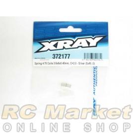 XRAY 372177 Spring 4.75 Coils 3.6x6x0.45mm, C=2.0 - Silver (Soft) (2)
