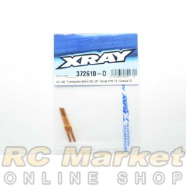 XRAY 372610-O Alu Adj. Turnbuckle 42mm M3 L/R - Swiss 7075 T6 - Orange (2)