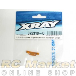 XRAY 372310-O X12 Alu Lower Graphite Suspension Arm Holder - Orange