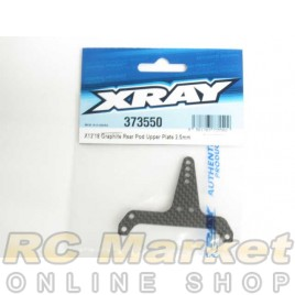 XRAY 373550 X12 Graphite Rear Pod Upper Plate 2.5mm