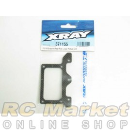 XRAY 371155 X10'18 Graphite Rear Pod Lower Plate 2.5mm