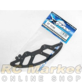 XRAY 371040 X10 Graphite Front Bumper & Shims 2.5mm - V2