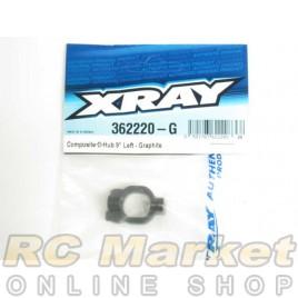XRAY 362220-G XB4 Composite C-Hub 9° Left - Graphite