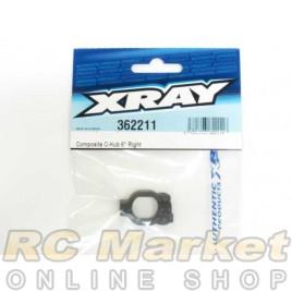 XRAY 362211 XB4 Composite C-Hub Right - 6° Deg.