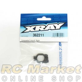 XRAY 362211 XB4 Composite C-Hub Right - 6° Deg.