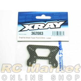 XRAY 362083 XB4 Graphite Shock Tower Front 3.5mm - Lower