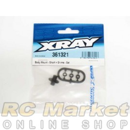 XRAY 361321 XB4 Body Mount - Short + Shims - Set