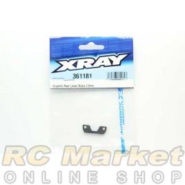 XRAY 361181 XB4 Rear Lower Brace 2.0mm Graphite