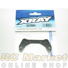 XRAY 322084 XB2 Graphite Shock Tower Front 4.0mm - Lower