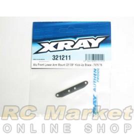 XRAY 321211 XB2 Alu Front Lower Arm Mount 23°/29° Kick-Up Brace - 7075 T6