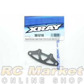 XRAY 301210 T4'19 Graphite Bumper Upper Holder For Adjustable Body Mounts