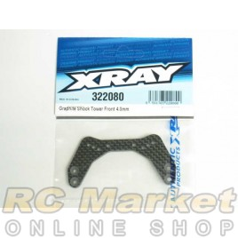 XRAY 322080 XB2 Graphite Shock Tower Front 4.0mm