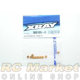 XRAY 303125-O Alu Shim 3x6x3.0mm - Orange (10)