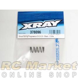 XRAY 378096 Shock Spring Progressive C=2.0-2.5 - Black - 2 Dots