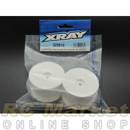 XRAY 329913 2WD/4WD Rear Wheel Aerodisk with 12mm Hex-V2 - White (2)