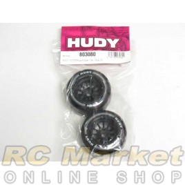 HUDY 803080 1/10 Formula Rubber Tire - Rear (2)