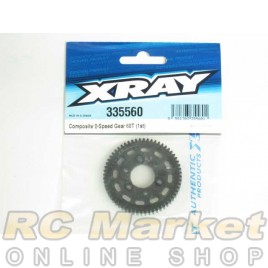XRAY 335560 NT1 Composite 2-Speed Gear 60T (1st)