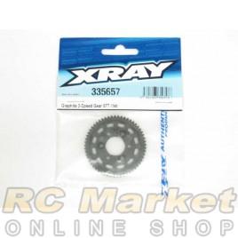 XRAY 335657 NT1 Graphite 2-Speed Gear 57T (1st)