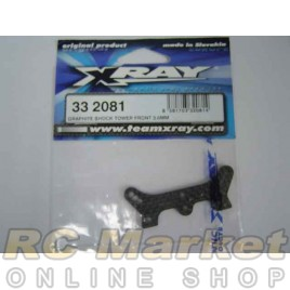 XRAY 332081 NT1 Graphite Shock Tower Front 3.0mm