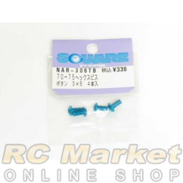SQUARE NAR-306TB 3x6 Alum. Round Head Hex Screw Light Blue
