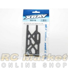 XRAY 353116 XB9 Composite Rear Lower Suspension Arm - Hard