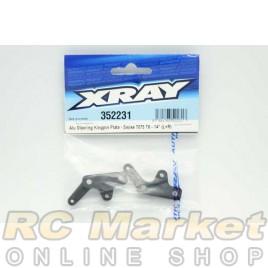 XRAY 352231 XB8 Alu Steering Kingpin Plate - Swiss 7075 T6 - 14° (L+R)