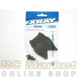 XRAY 353194 XB8 Graphite Rear Lower Arm Plate (2)