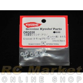 KYOSHO ORG03X O-Ring For Oil Shock (3mm/8pcs)