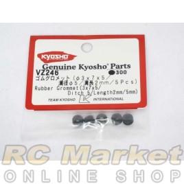 KYOSHO VZ246 Rubber Grommet (3×7×5 / Ditch 5 / Length 2mm / 5Pcs)