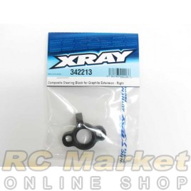 XRAY 342213 RX8 Composite Steering Block for Graphite Extension - Right