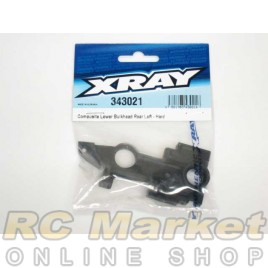 XRAY 343021 RX8 Composite Lower Bulkhead Rear Left - Hard