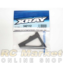 XRAY 342112 RX8 Suspension Arm for Graphite Extension - Front Lower - Hard