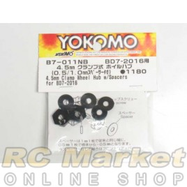 YOKOMO B7-011NB 4.5mm Clamp Wheel Hub W/Spacers for BD7/9
