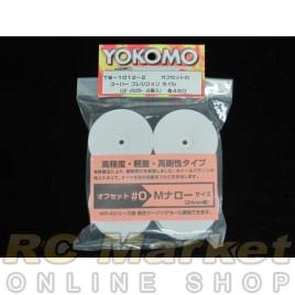 YOKOMO TW1012-2 Dish Wheel White 4pcs