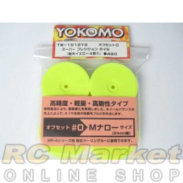 YOKOMO TW1012Y2 Dish Wheel Yellow 4pcs