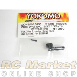 YOKOMO Aluminum 20mm Clamp Servo Horn (23T Spline) for Airtronics/KO